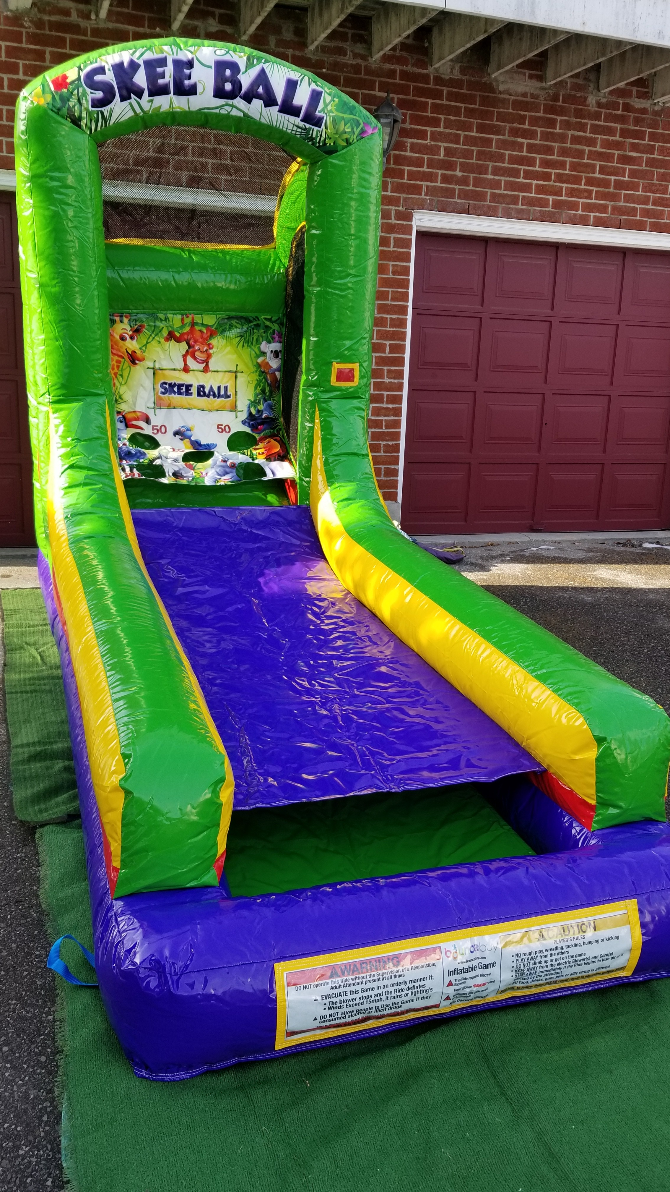 Inflatable Skee Ball 13 X 6 X 9 King Of The Castle